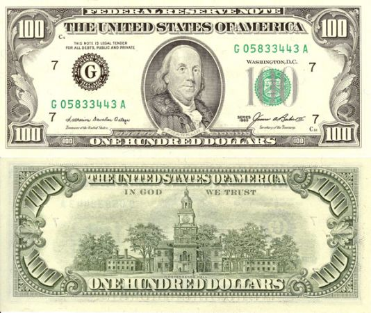 banknot studolarowy